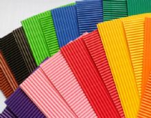 Plain coloured corrugated card. 20 strips